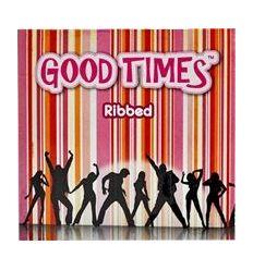 Good Times Ribbed - kondomy s žebernatých povrchem (3 ks)