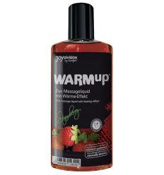 Masážní olej se nahřívací účinkem - jahodový (150 ml)