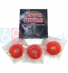 Gummy Love Rings tři jedlé kroužky na penis