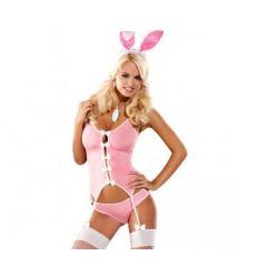 Růžový kostým zajíček Obsessive Bunny Suit Costume