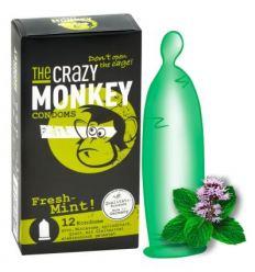 Kondomy s příchutí mentolu Crazy Monkey Fresh Mint 12ks