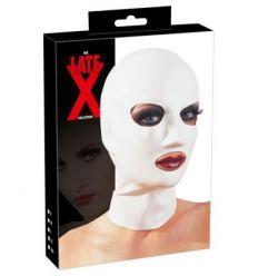 Latexová maska na hlavu bílá
