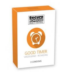 Kondomy s benzokain Secura Good Timer 3ks