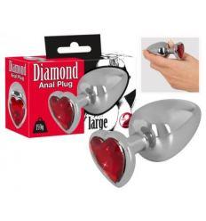 Anální kolík se šperkem Diamond anal plug 159g
