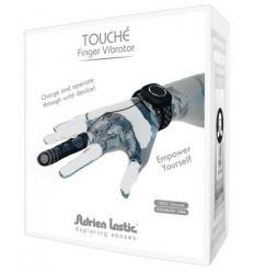 Vibrátor jako silikonový návlek na prst s ovládáním přes náramek Adrien Lastic Touch