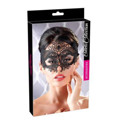 Černá vyšívaná krajková maska ??Cottelli Collection