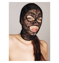 Bad Kitty - čipková maska na hlavu