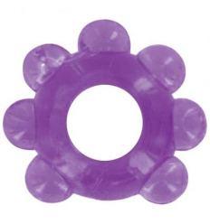 Love Ring - jemný krúžok na penis s guličkami (fialový)