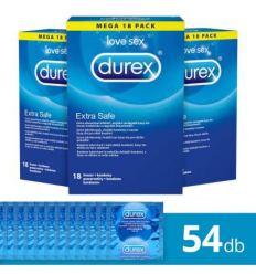 Durex Extra Safe - sada bezpečných kondómov (3 x 18ks)