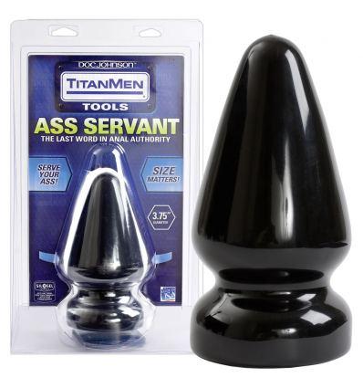Ass Servant análny kolík (čierny)