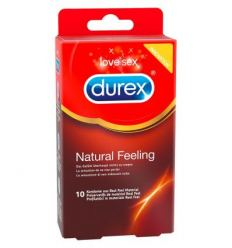 Durex Natural Feeling - kondómy bez latexu (10ks)