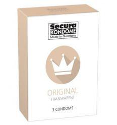Secura Original - priehľadné kondómy (3ks)