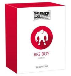 Secura Big Boy - 60 mm kondómy (100 ks)
