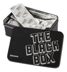 Secura - čierne kondómy v ozdobnej krabici (50 ks)