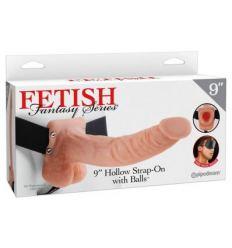 Fetish Strap-on 9 - pripínacie dildo (prírodná farba)