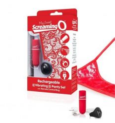 Vibračné nohavičky the Screaming O Charged Remote Control Panty Vibe Red
