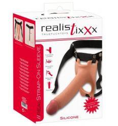 Strapon Realistixxx Strap on hinged hollow Lifelike dildo