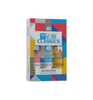 Sada 3 lubrikačních gelů System JO Tři Me Triple Pack Classic