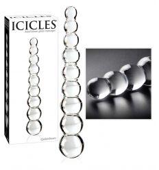 Icicles - kuličková skleněné dildo